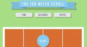 100 m scroll
