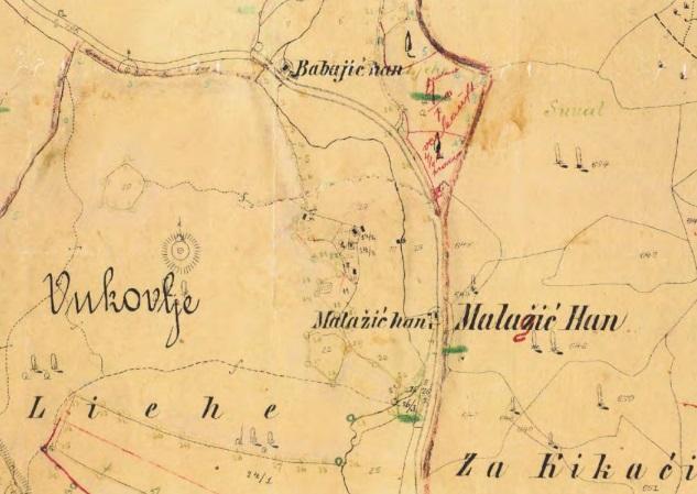 Kopija austrougarskog katastarskog plana K. O. Vukovije