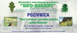 eko zeleni DANI KULTURE I PRIRODNE BASTINE  27.MAJ