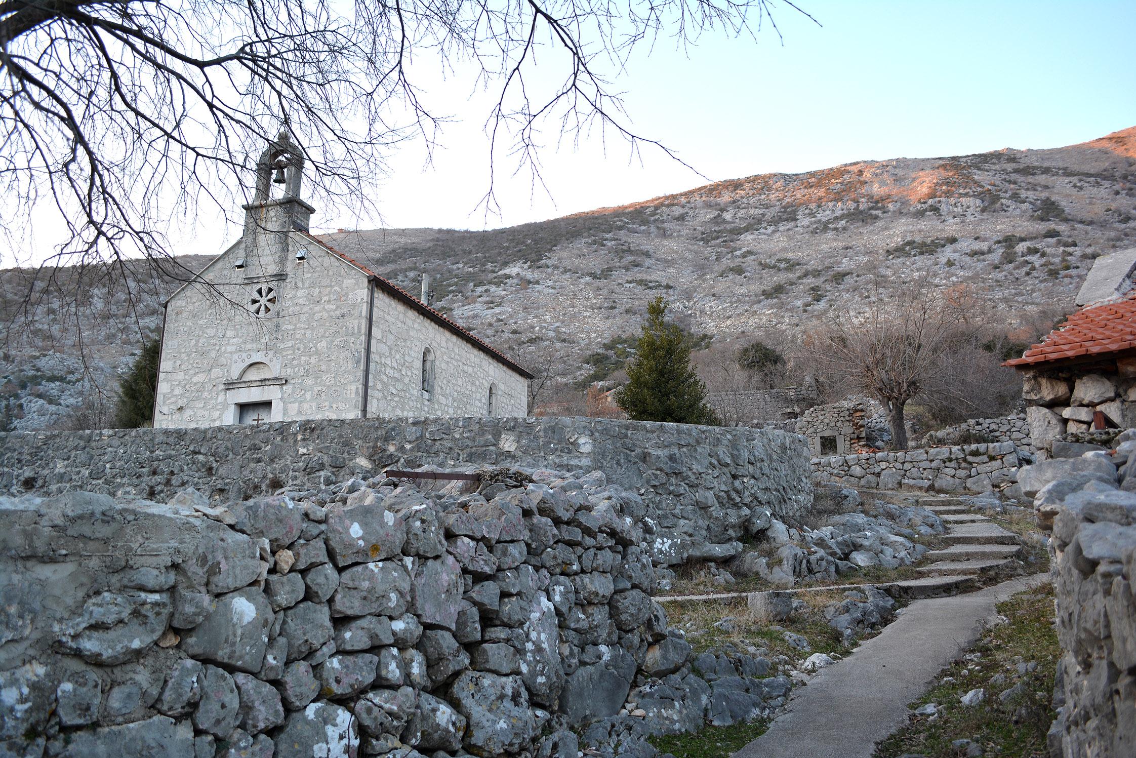 Ljubinje, BiH - 05. februar 2017: Crkva Sv. Nikole u selu Kotezi ( Zeljko Milicevic - Anadolu Agency )